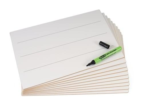 Show Me Rigid A4 Drywipe Lapboards Lined Pack Of 10