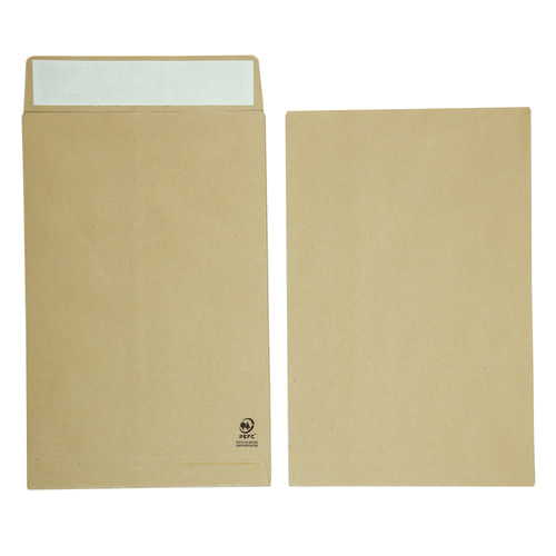 Manilla Gussetted Pocket Envelopes 381mm x 254mm x 25mm Pack 125s