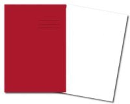 Exercise Books A4+ 320mm x 240mm 80 Pages Plain Red