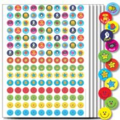 A5 Mixed Compilation 10mm Stickers Assorted 750 55925