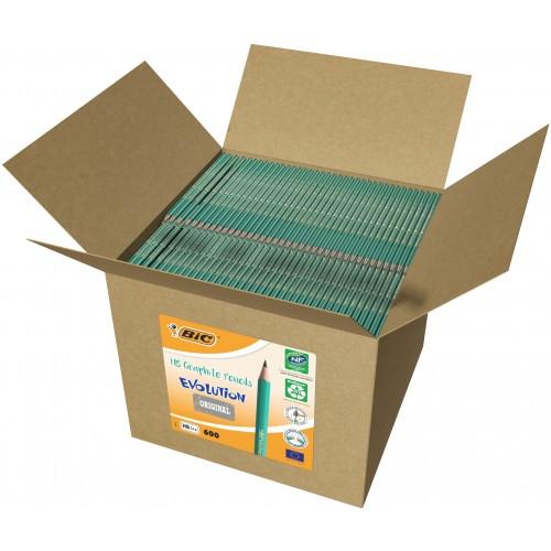 Bic Ecolution Graphite Pencil Box 600