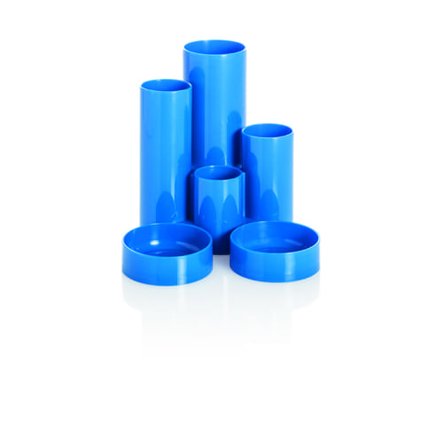 Desk Tidy 6 Tube Blue