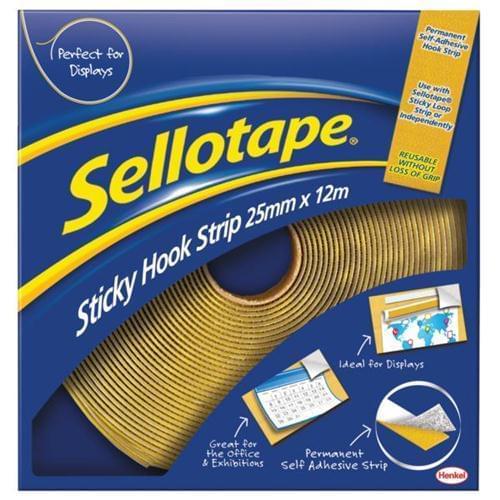 Sellotape Sticky Hook Strip 12 Metres
