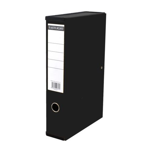 Linen Box Files Foolscap Black