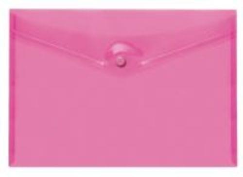 Stud Wallets A4 Polypropylene Pink Pack 5s