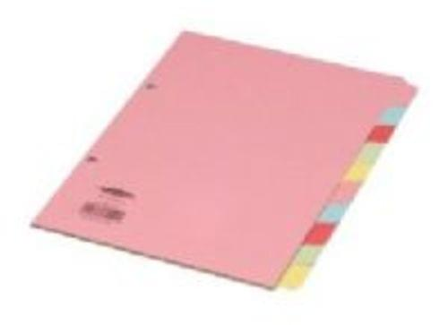 Manilla Subject Dividers A5 10 Part