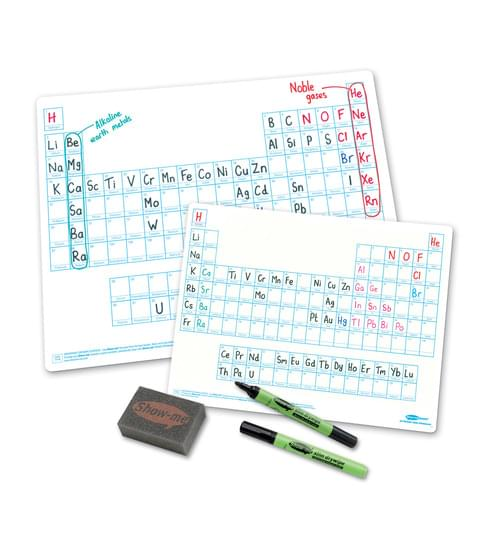 Show Me Drywipe Boards A3 Periodic Tables Pack Of 5