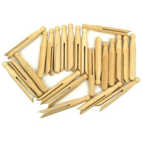 Natural Dolly Pegs Pack 24s