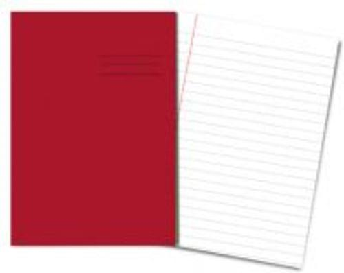 Exercise Books A4+ 320mm x 240mm 80 Pages 12mm Feint & Margin Red
