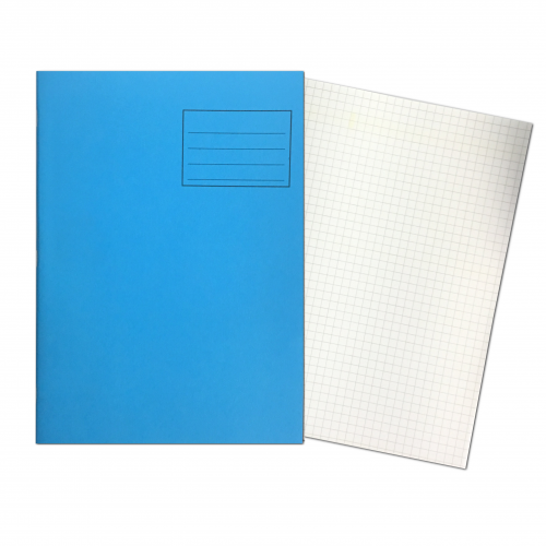 Exercise Books A4 80 Pages 7mm Squares Light Blue