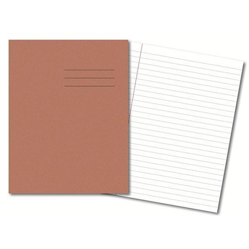 Exercise Books A4 80 Pages 8mm Feint  Margin - Buff