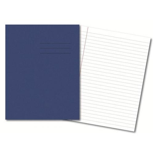 Exercise Books A4 80 Pages 8mm Feint  Margin - Dark Blue
