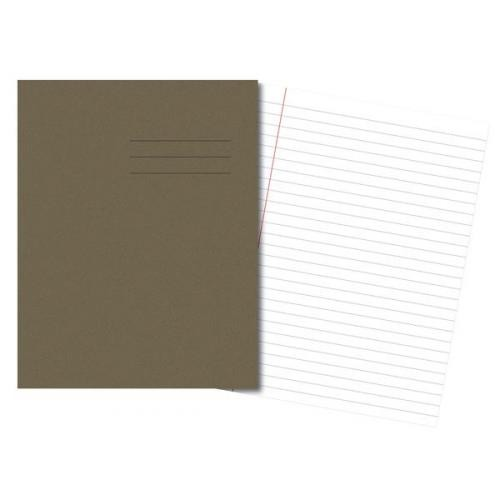 Exercise Books A4 80 Pages 8mm Feint  Margin - Grey