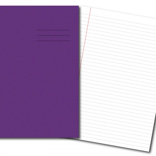 Exercise Books A4 80 Pages 8mm Feint  Margin Purple