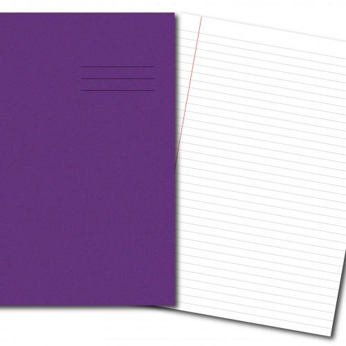 Exercise Books A4 80 Pages 8mm Feint  Margin Purple