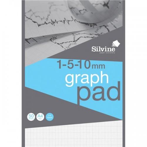 Silvine Professional Graph Pad A4 1/5/10mm Squares