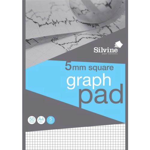 Silvine Professional Graph Pad A4 5mm Squares