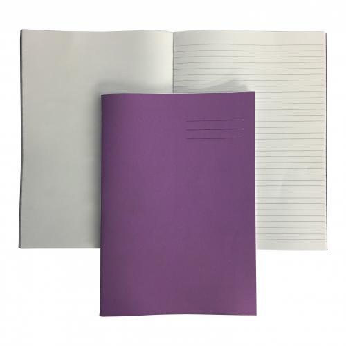 Exercise Books A4 80 Pages 8mm Feint  Plain Alternate Purple