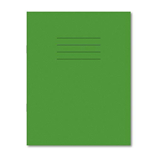 Exercise Books A4+ 320mm x 240mm 80 Pages 8mm Feint Ruled Light Green