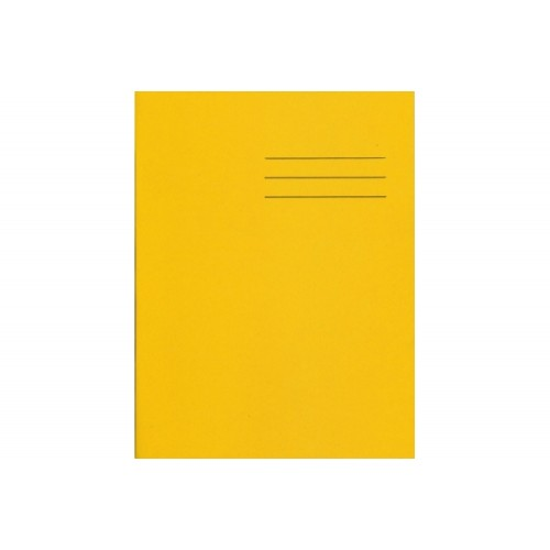 Exercise Books A4+ 320mm x 240mm 80 Pages 8mm Feint Ruled Yellow