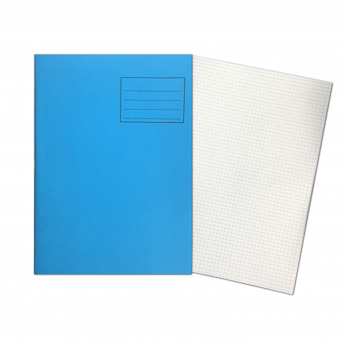 Exercise Books A4 80 Pages 5mm Squares Blue