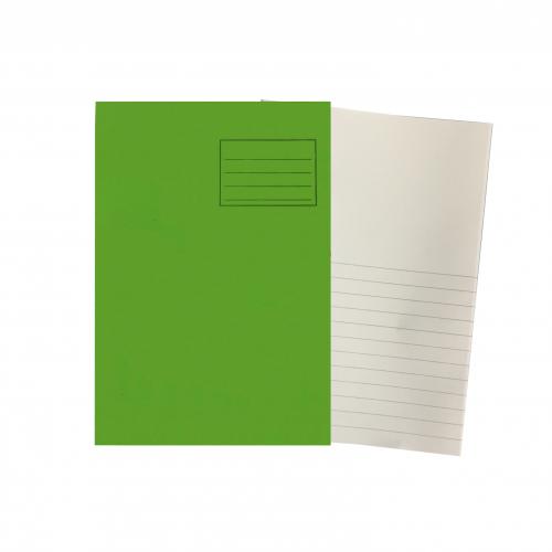 Ex Bk A4 64 Pages Plain Top Bottom 15mm Ruling Light Green