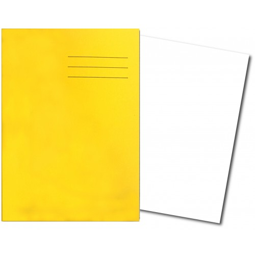 Exercise Book A4 64 Pages Plain Yellow