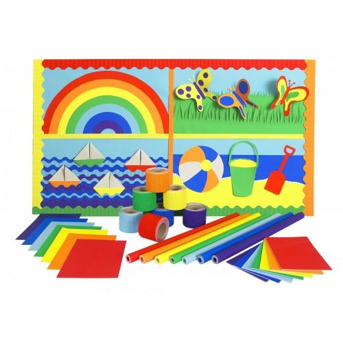 Educraft Wall Display Pack Rainbow