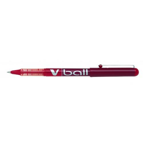 Pilot V-Ball Rollerball Pen 0.3mm Line Red