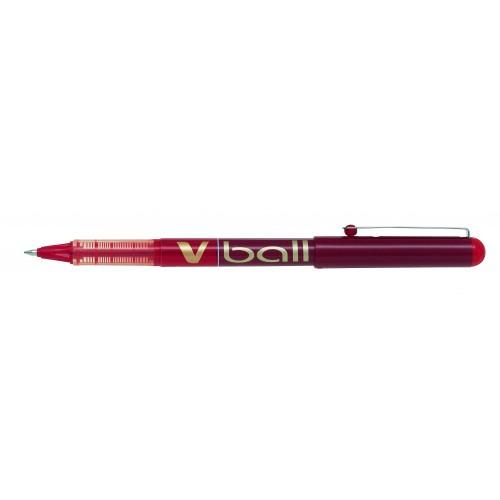 Pilot V-Ball Rollerball Pen Fine Red 0.5mm line