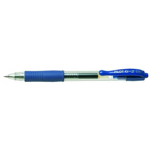 Pilot G205 Gel Rollerball Pen Rubber Grip Retractable 0.5mm Tip 0.32mm Line Blue