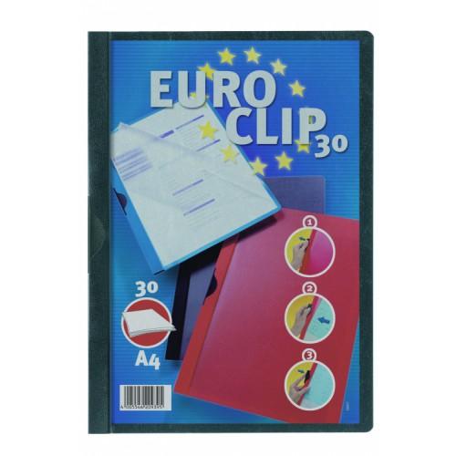 Durable Euro Clip  Folders A4 Black Pack 25 200601