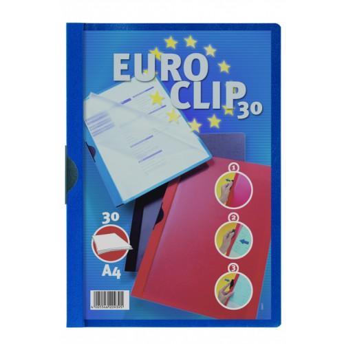 Durable Euro Clip  Folders A4 Blue Pack 25 200606