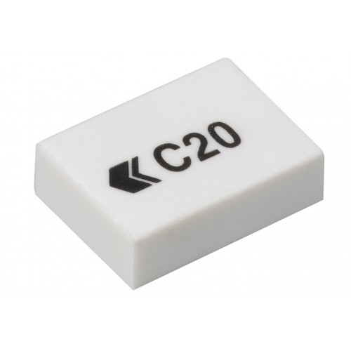 School  Erasers Small White PES45