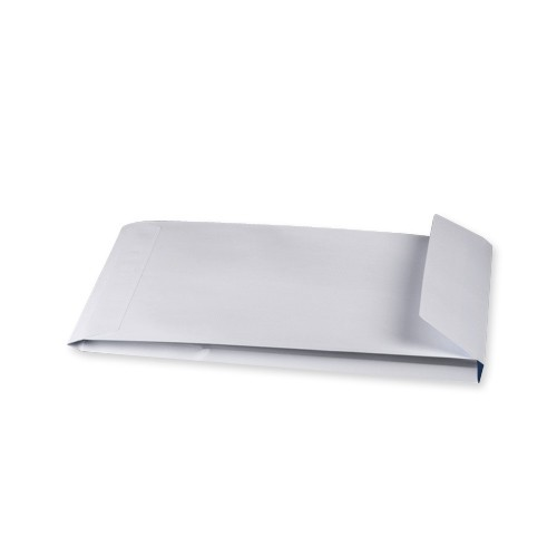 White Gusset Envelopes C4 324mm x 229mm x 25mm Press Seal 140gsm 6850op