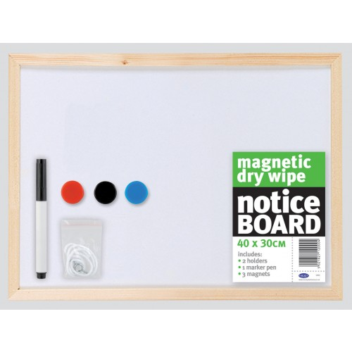 Magnetic Whiteboard 400mm x 300mm With Pine Frame
