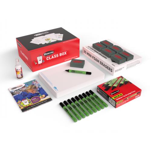 Show Me Drywipe Board Plain 650 Microns Classpack Of 35