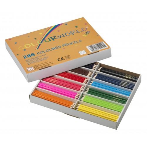 Colourworld Colouring Pencils Classpack Assorted 288s