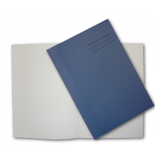 Drawing Books A4 24 Pages 100gsm Plain Paper Blue NA42401