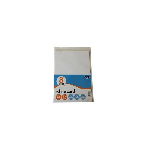 White Card A4 220gsm Packs Of 8 sheets