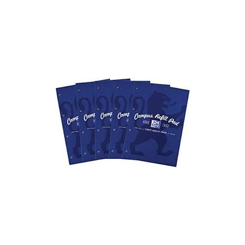 Oxford Campuss A4 Refill Pad Ruled With Margin Punched 4 Holes 140 Pages Navy Blue Covers