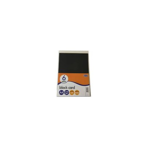Black Card A4 270gsm Pack Of 6 Sheets