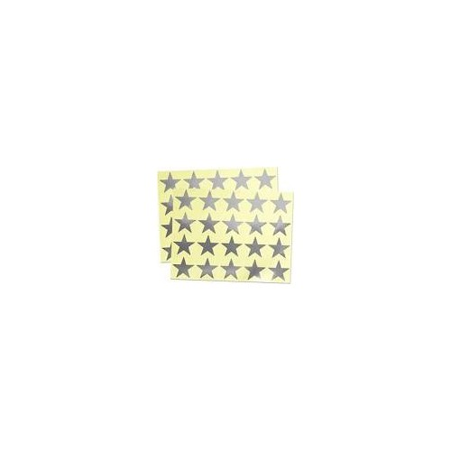 Small Packs Office Labels 13mm Foil Stars Silver Pack 135s