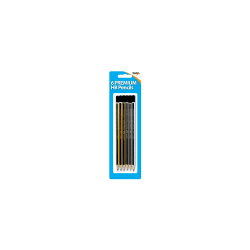 Tiger HB Pencils Pack 6s Hanging Pack