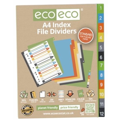 Recycled Dividers A4 1 - 12
