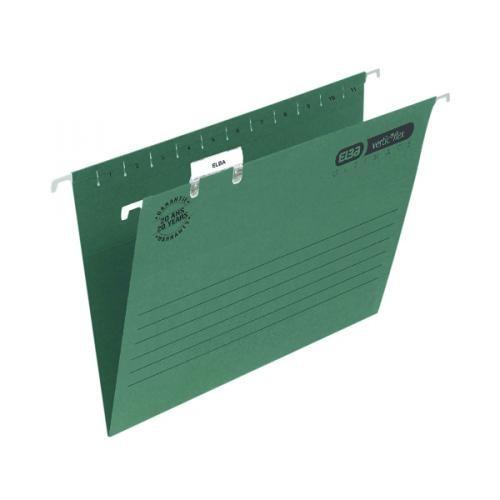 Elba Ultimate Suspension Files Foolscap Green