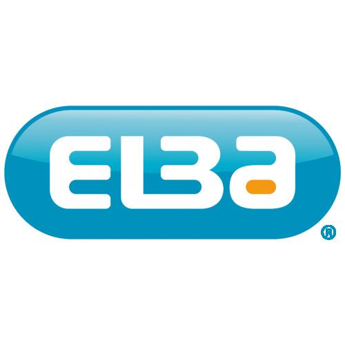 Elba Laminated Ring Binder A4, 40mm Spine, Silver