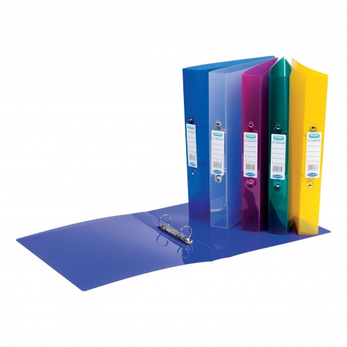 Elba Snap Frosted Ring Binders A4 Assorted 400001907