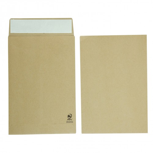Manilla Gussetted Pocket Envelopes C4 324mm x 229mm x 25mm Pack 125s