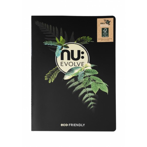 NU: EVOLVE A5  STITCHED NOTEBOOK 80 Pages